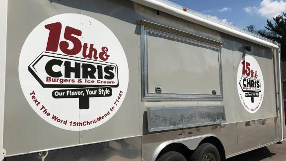Purifoy bought a food truck to cater events and sell burgers around town.