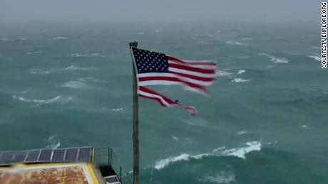American flag that survived Hurricane Florence is up for