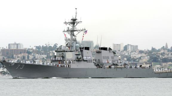 The USS Decatur, seen in this file photo,  sailed within 12 nautical miles of the Spratly Islands, two US officials told CNN.