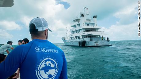 International Seakeepers Society uses Yacht Marcato as a platform to conduct a shark-tagging expedition in the Bahamas.