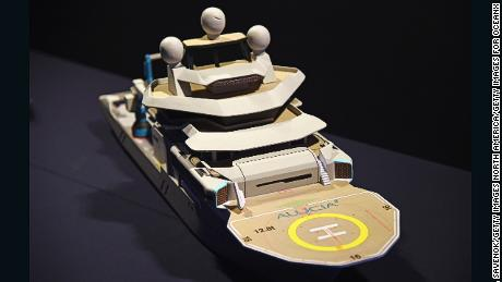 A model for OceanX's marine research and media vessel Alucia 2.