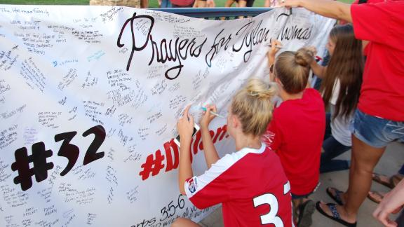 Students and community members held a vigil for Dylan before he died Sunday.