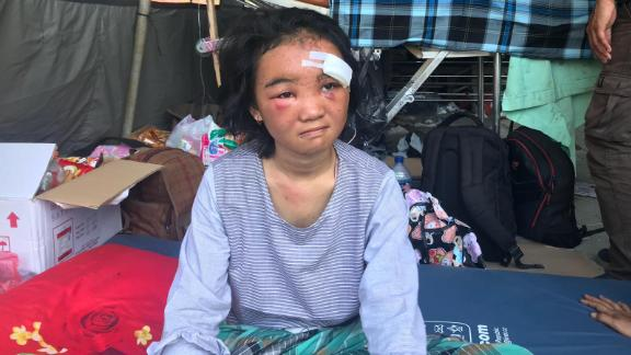 18-year-old Puteri Pratiwi was riding home with her cousin when the earthquake struck on Friday