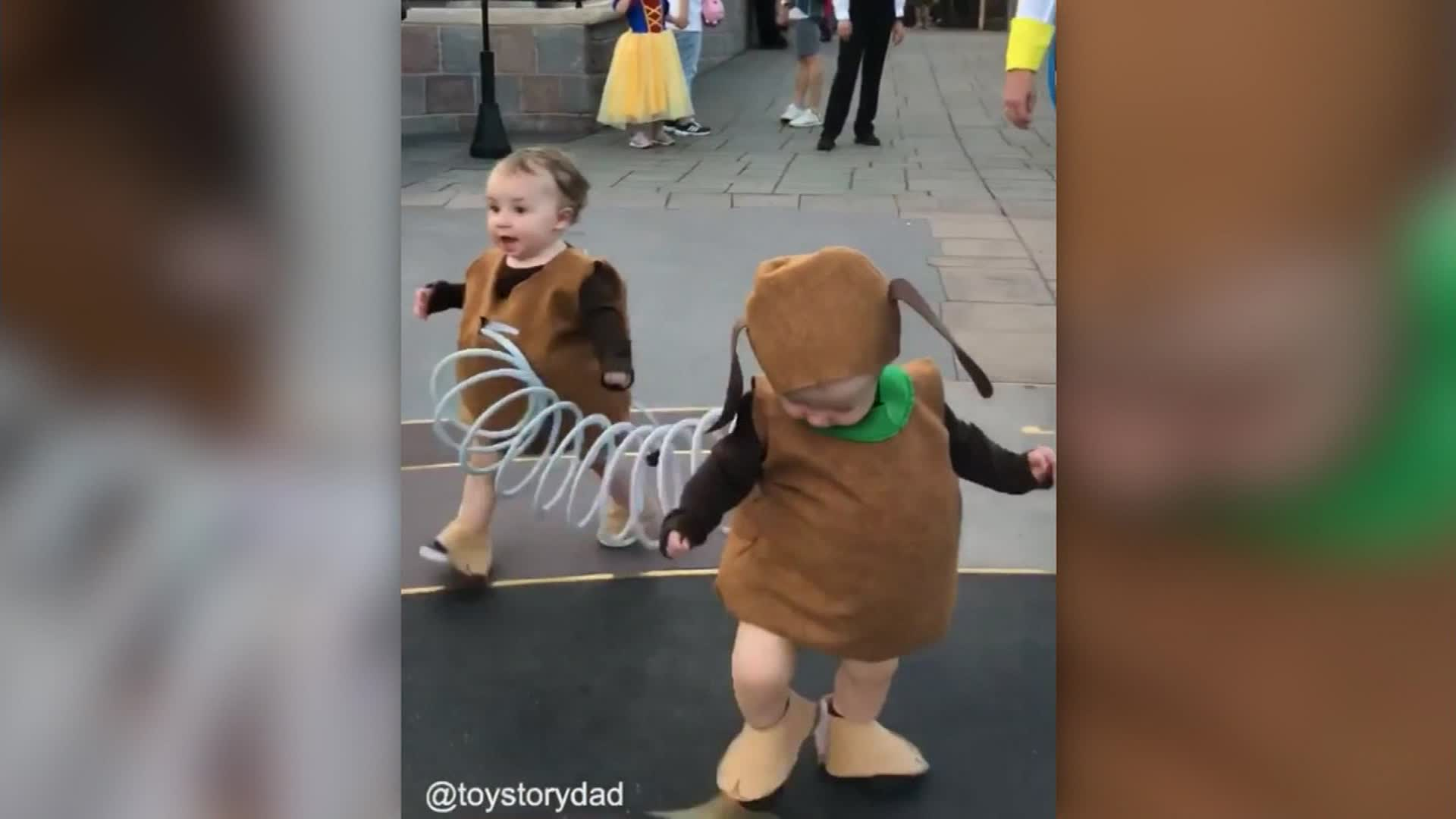 Toy Story 4 Halloween Costumes.Dad Takes Toy Story Costume To The Next Level