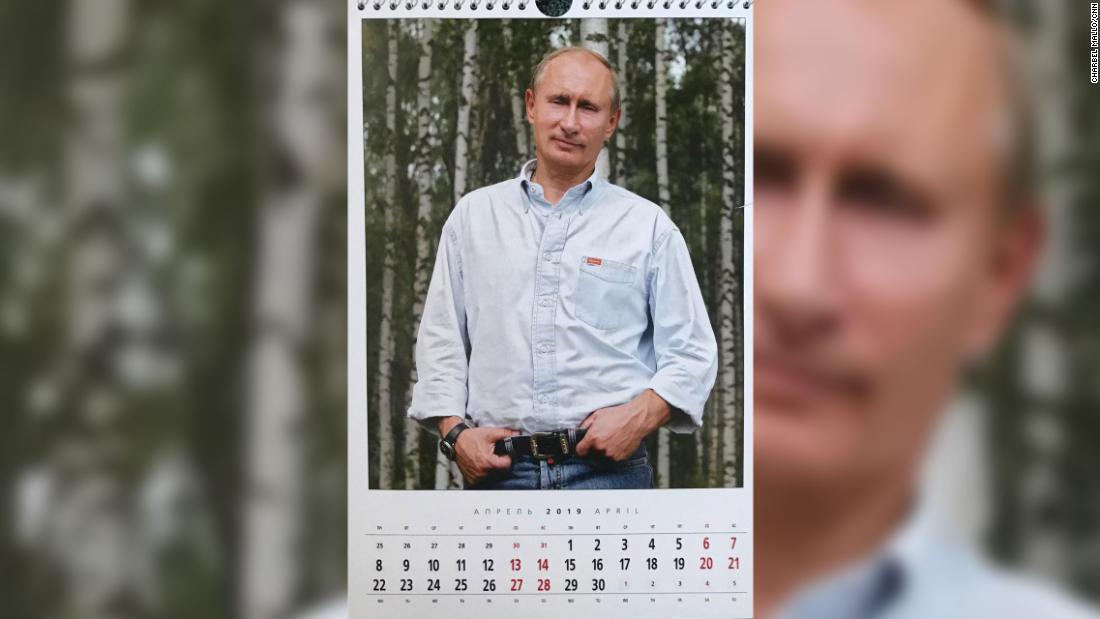 In April, we get a more relaxed, even avuncular Russian leader.