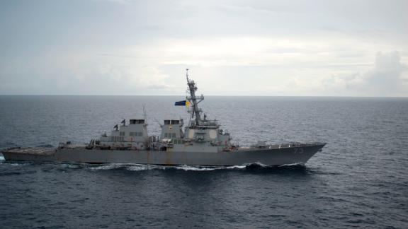 161013-N-WF272-396 SOUTH CHINA SEA (Oct. 13, 2016) Guided-missile destroyer USS Decatur (DDG 73) operates in the South China Sea as part of the Bonhomme Richard Expeditionary Strike Group (ESG). The Bonhomme Richard ESG is operating in the South China Sea in support of security and stability in the Indo-Asia Pacific region. (U.S. Navy photo by Petty Officer 2nd Class Diana Quinlan/Released)