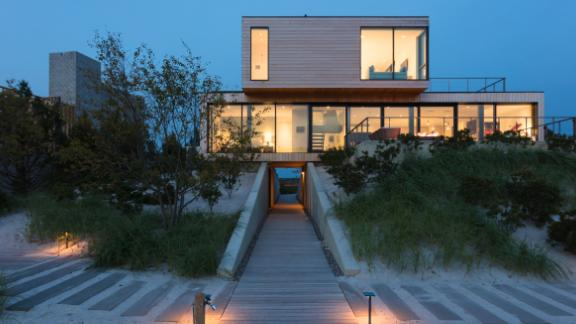 This beachfront residential property on the coast of New Jersey was built by RAAD Studio to withstand storms.