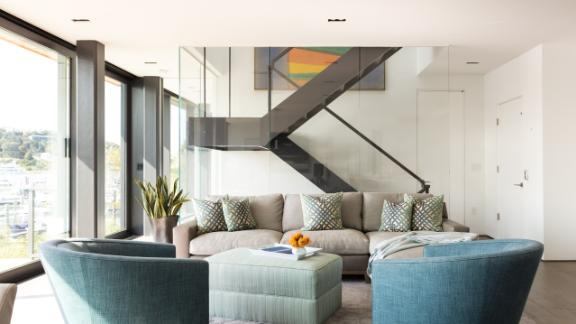 A view inside the New Jersey beachfront home designed by RAAD Studio.