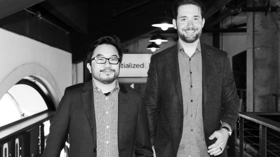 Garry Tan (left) and Alexis Ohanian