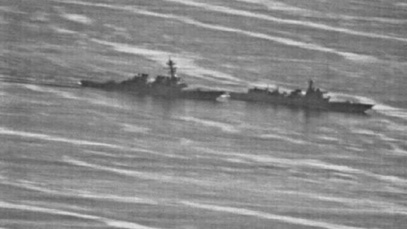 """A US Navy ship had an """"unsafe"""" interaction with a Chinese warship September 30 while the US vessel was conducting a freedom of navigation operation near the disputed Spratly Islands in the South China Sea, causing the US ship to maneuver """"to prevent a collision,"""" according to US defense officials."""