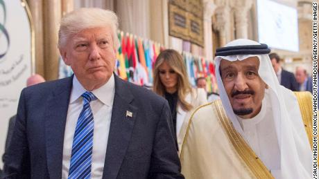 US President Donald Trump and Saudi Arabia's King Salman bin Abdulaziz Al Saud attend the Arabic Islamic American Summit at King Abdul Aziz International Conference Center in Riyadh, Saudi Arabia on May 21, 2017.
