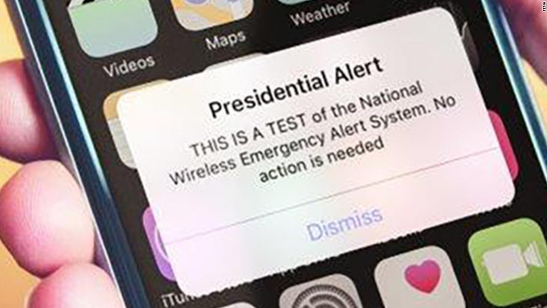 Feds send first emergency message test to cell phones