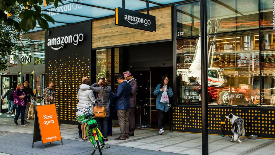 Amazon go no cashiers hundreds of cameras and lots of data cnn the amazon go storefront inside you won39t see a single m4hsunfo
