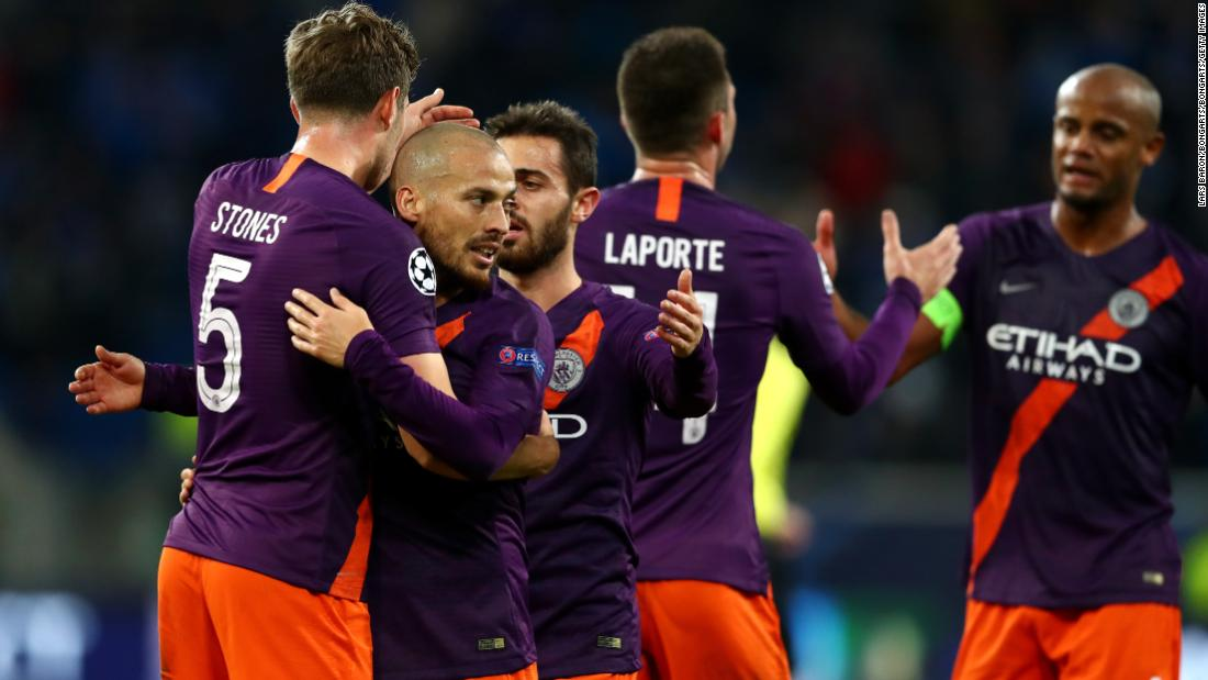 David Silva struck a late winner against Hoffenheim to ease Manchester City's Champions League worries on a tough night in Germany. Going into the match, Pep Guardiola was on a run of five defeats in six Champions League games after the opening-match defeat to Lyon.