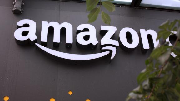 SEATTLE, WA - JUNE 16: A portion of the sign advertising Amazon Go is seen outside the grocery store