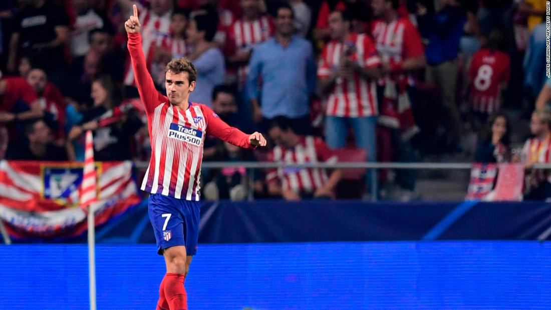 An Antoine Griezmann brace guided Atletico Madrid to a hard-fought victory over Belgian side Club Brugge. The hosts were pegged back in the first half by Arnaut Groeneveld's strike, before Griezmann came to the rescue with his second and Koke added a third late on.
