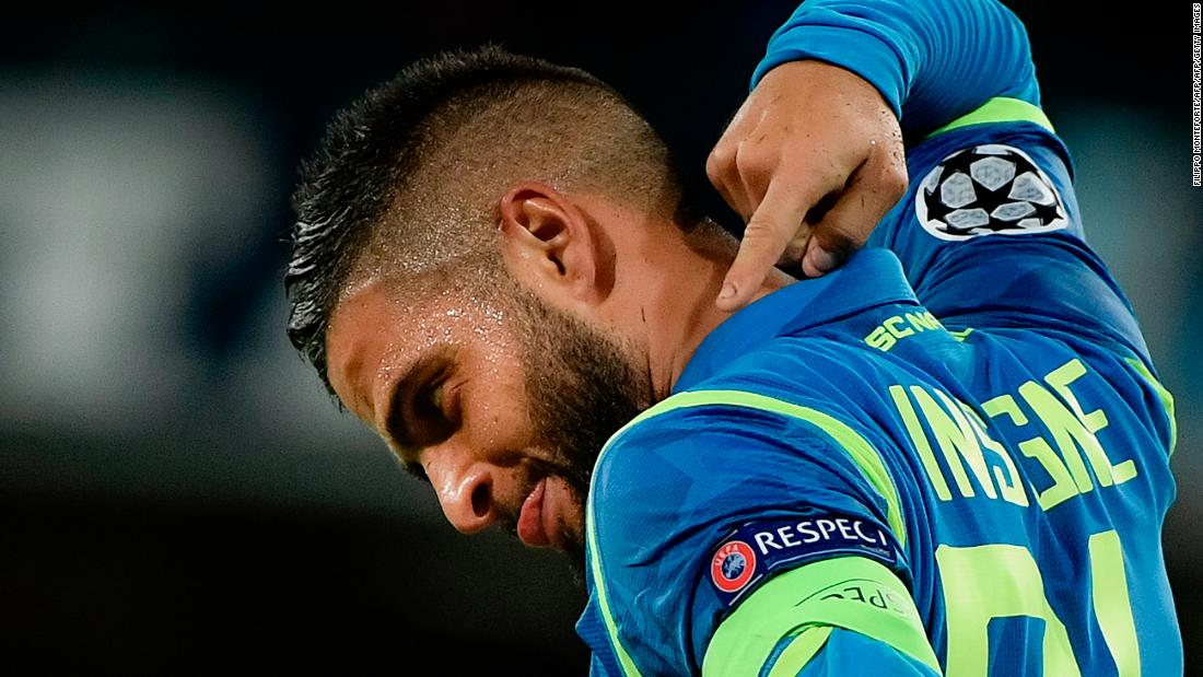 Lorenzo Insigne struck in stoppage time to give Napoli a deserved last-gasp victory over Liverpool. The Naples-born forward latched onto Jose Callejon's pinpoint cross to send his team top of Group C.