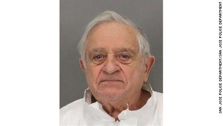 Police arrested Anthony Aiello, 90, on suspicion of killing his stepdaughter, Karen Navarra, in September at her home in San Jose, California.