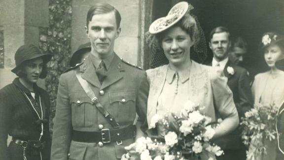 William Frankland at his wedding, before he went off to war.
