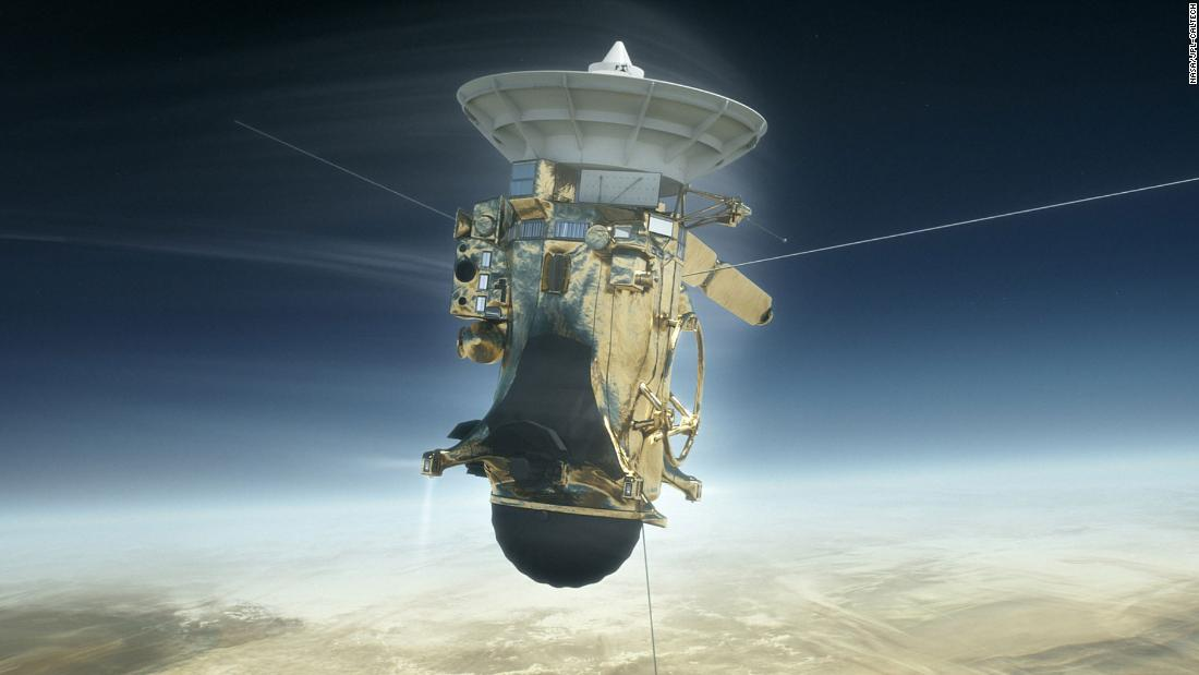 "On September 15, 2017, the 20-year Cassini mission ended in a ""death dive"" into Saturn's upper atmosphere, collecting data until the spacecraft broke apart and became part of the planet it set out to explore."