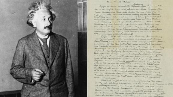 Einstein's 'God letter' sold for close to $2.9 million at auction in New York.