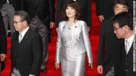 Satsuki Katayama is the sole woman in Japan's cabinet, which previously had two.