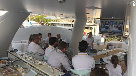 Emily Penn instructs superyacht crew members on how to reduce waste and pollution on board.