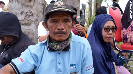 Martinus Hamaele, 55, whose daughter worked inside the now-devastated Mercure Hotel. He searched the ruins for her but so far, she hasn't been found.
