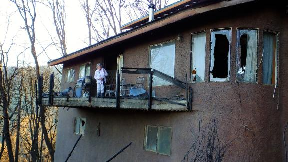 Jennings' home surivived the Valley Fire in 2015 with minimal damage.