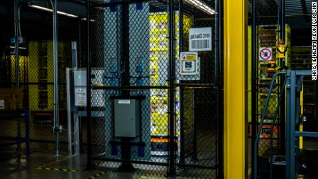The visual bin inspection system at an Amazon fulfillment center.