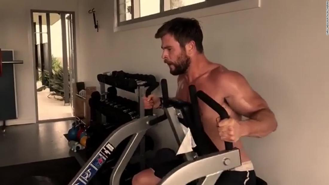 See Chris Hemsworth's grueling workout