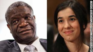 Denis Mukwege和Nadia Murad因打击性暴力而获得诺贝尔和平奖
