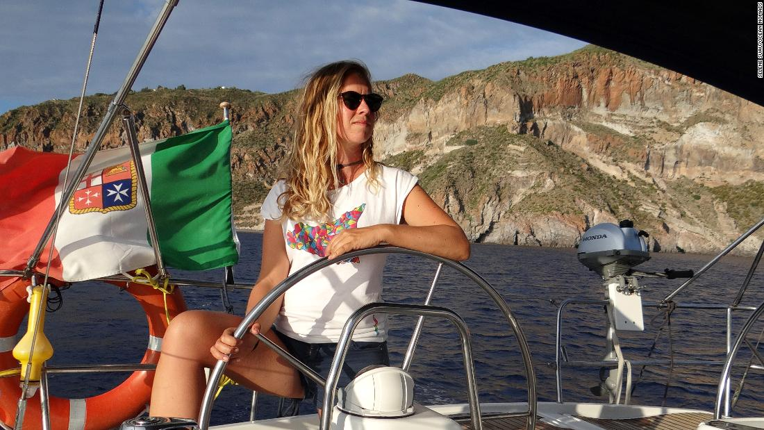 Van der Veeken had very little experience sailing before her first trip. But now, having sailed 25,000 miles in the last four years, she's secured her skipper license, meaning she can charter her own boat and take passengers.