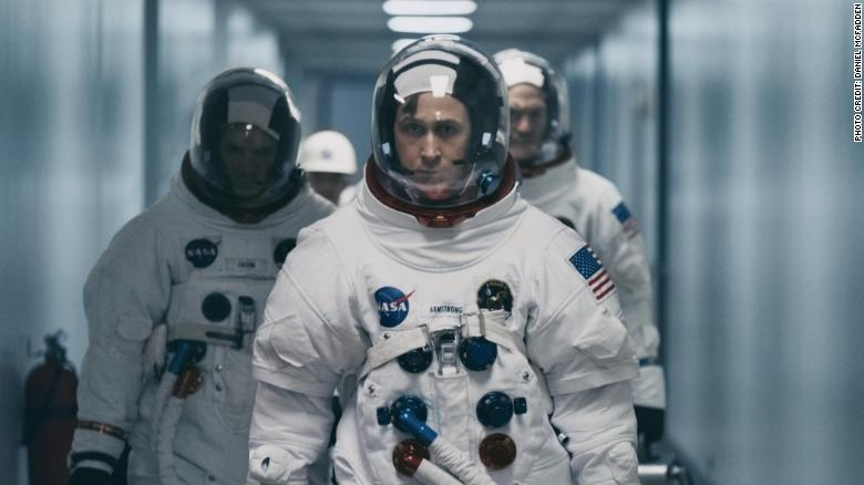 Ryan Gosling (center) in 'First Man'