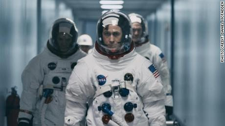 Ryan Gosling (center) in 'First Man'
