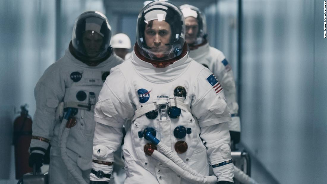'First Man' soars as tale of Neil Armstrong and stoic heroism