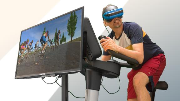 VirZoom has developed the VZFit, which can be added to exercise bikes in gyms so that users can play virtual reality games while pedaling.