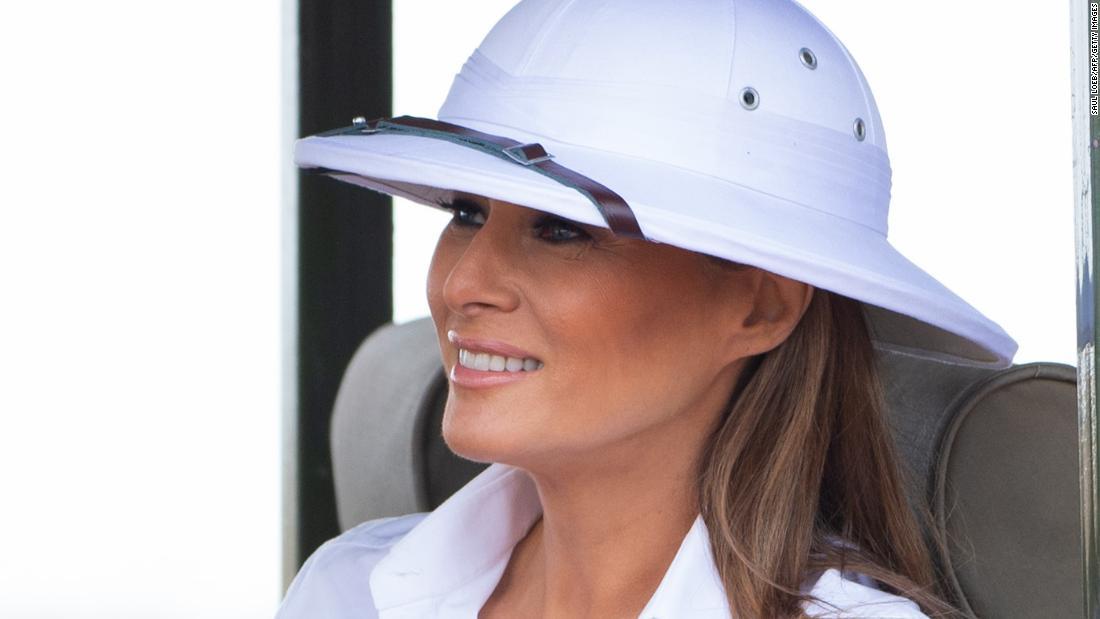 6cae8b881d291 Melania Trump s new white hat evokes colonialist comparison - CNNPolitics