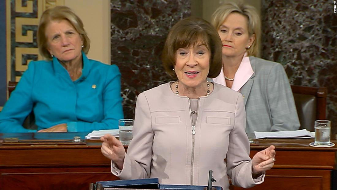 スーザンコリンズが初の共和党上院議員にいる証人