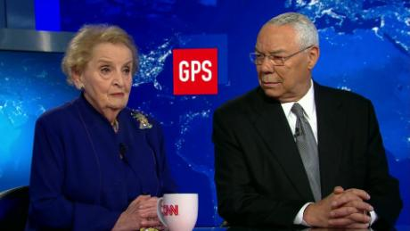 Image result for Albright, Powell and Fareed Zakaria