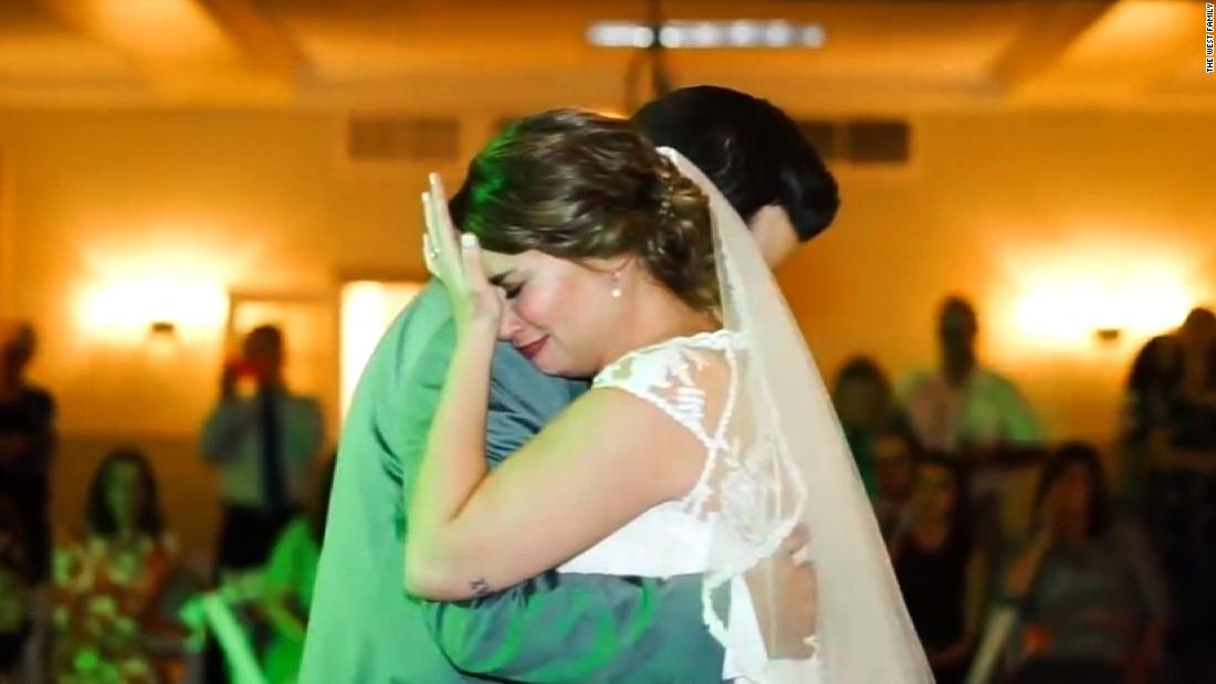 Bride moved to tears when she hears this voice