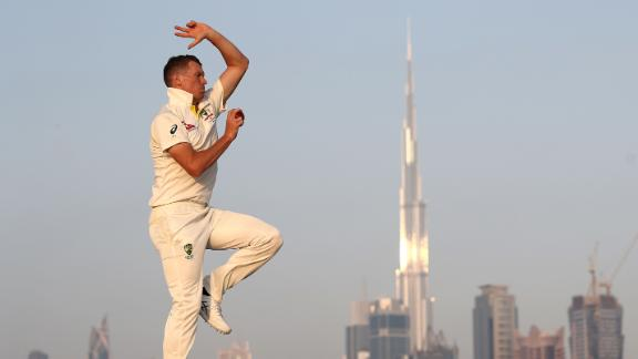 Australian fast bowler Peter Siddle poses during a portrait session on October 03, 2018 in Dubai, United Arab Emirates.