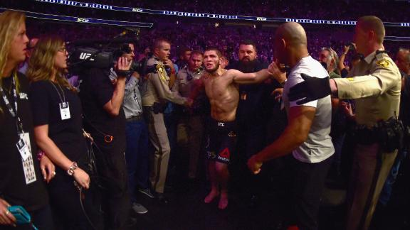 Khabib Nurmagomedov is suspended from the UFC after the ugly scenes that followed last fight.