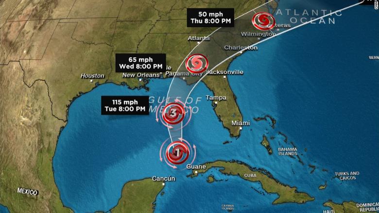 Weather Map Of Florida.Hurricane Michael Strengthens Before Landfall Cnn Video