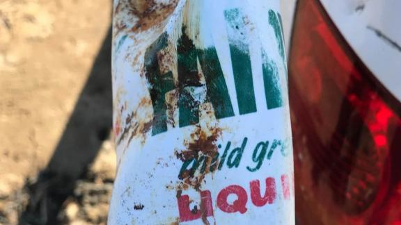 """Burnham Coastguard Rescue Team post on Facebook says, """"Items like this washing up bottle that is 47 years old was among the debris from the rough tides."""""""