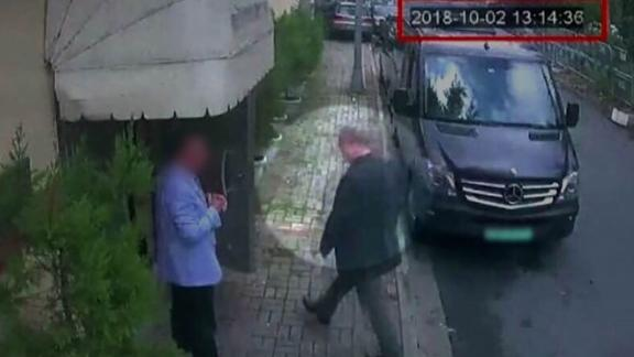 CCTV image of the missing Saudi Journalist Jamal Khashoggi entering the Saudi consulate on Tuesday oct 2nd at 13:14 local time