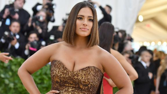 Ashley Graham arrives for the 2018 Met Gala on May 7, 2018, at the Metropolitan Museum of Art in New York. - The Gala raises money for the Metropolitan Museum of Arts Costume Institute. The Gala's 2018 theme is Heavenly Bodies: Fashion and the Catholic Imagination.