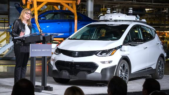 GM CEO Mary Barra has stressed the development of self-driving cars and electric vehicles like the Chevy Bolt EV.