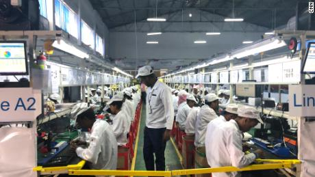 Transsion's assembly factory in Addis Ababa, Ethiopia.