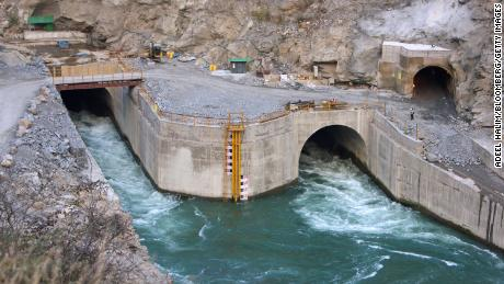Water flows through tunnels at the site of the Punatsangchhu hydro-electric power project in Wangdue, Bhutan.